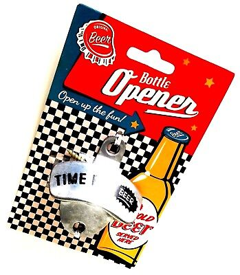 Wall Mounted Bottle Opener TIME FOR BEER