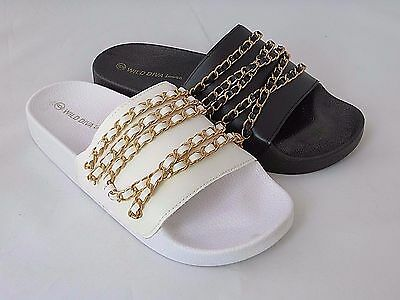 Matty22 Jelly Sandal Women Shoes Slip On Slides Chain Slippers Shiloh Wild Diva