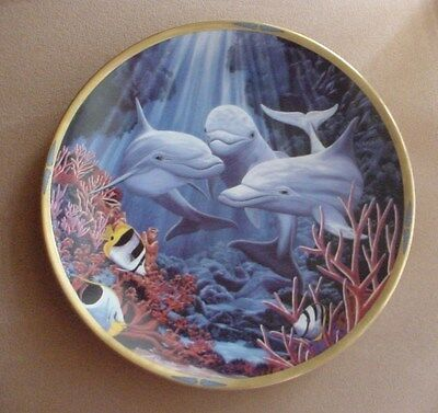 Lenox LET'S PLAY Sea of Dreams Plate Collection DOLPHINS