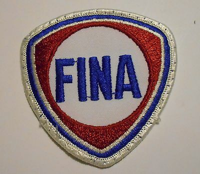 """Fina Gasoline Patch Embroidered Oil 3"""" inches  Vintage"""