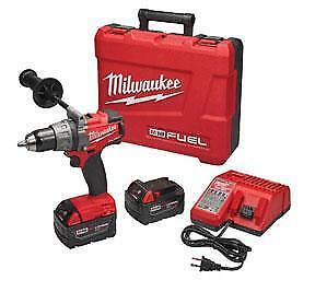 "Milwaukee M18 Fuel 1/2"" Drill / Driver Kit Low 2 5.0 Batts & Charger 2703-22"