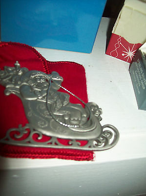 Avon Pewter Christmas Ornament 1995  with Box