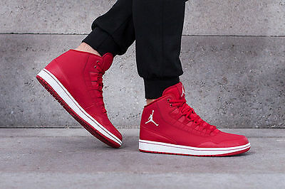 Nike Men's Jordan Executive LEATHER New Men's Red 100% Authentic *No Lid*