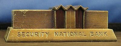 * Vintage metal Banthrico building Bank Security National Bank Joplin Missouri