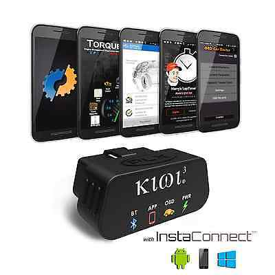 PLX Kiwi 3 Auto OBD2 OBDII Code Scanner Reader for Android, iPhone, and Windows