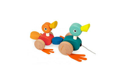 Pull Along Wooden Duck Family by Janod