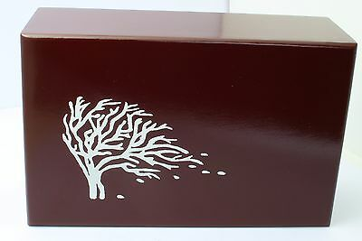 Adult Cemation Urn For Ashes MDF Wood Casket Funeral memorial Mahogany Large Urn