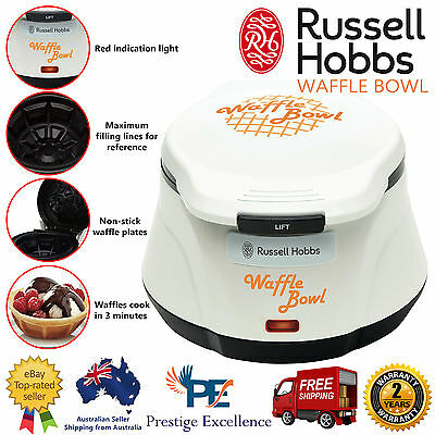 Electric Waffle Bowl Maker Cone Cup Shape 750W Non-stick Oven Dessert Plates NEW