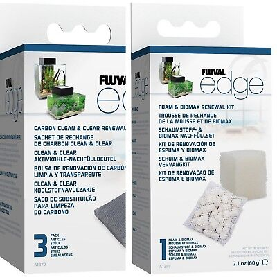 Fluval Edge Replacement Filter Media - Biomax Foam 3xCarbon *SAME DAY DESPATCH*