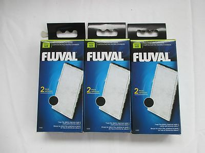 Fluval U2 Aquarium Poly Carbon Cartridge Bundle 3x2 Pack ... *SAME DAY DESPATCH*