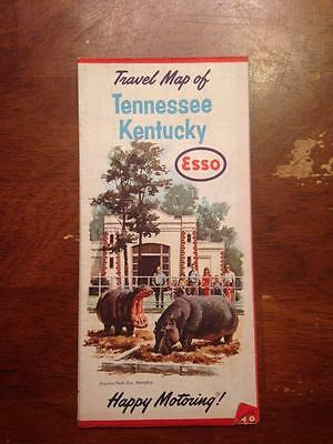 Vintage ESSO Travel Map of Tennessee Kentucky