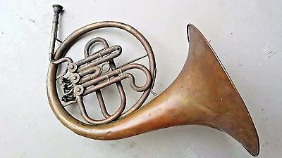 Antique French Horn Musical Instrument