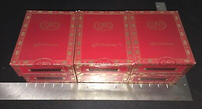 La Flor Dominicana LFD Double Ligero Robusto Tubo Red Cigar Boxes! LOT OF 6!