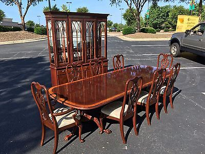 10 Piece Ethan Allen Chippendale Style Dining Set at Raleigh Furniture Gallery