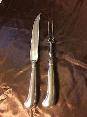 Constance Leiter Silver Plated (?) Carving set. Made In England.