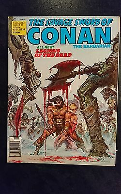 Savage Sword Of Conan #39 (Marvel, 1979) Condition: Approx. VF/NM....