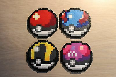 Poké Ball Pixel Art Bead Sprites from the Pokémon Series