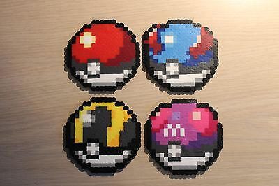 Poke Ball Pixel Art Bead Sprites from the Pokemon Series