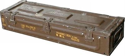 Ammo Box Can 86x30x14 cm Military Army Issue Metal Storage Case HEAVY DUTY