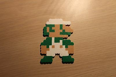 Luigi Pixel Art Bead Sprite from Super Mario Bros