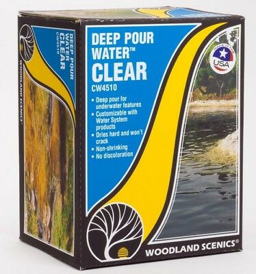 Woodland Scenics Clear Deep Pour Water Model Scenic Kit CW4510
