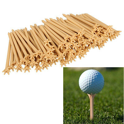 100Pcs Pack Professional Frictionless Golf Tee Wheat Golf Tees Plastic BEST GT