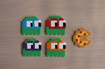 Ninja Turtles / Pac-Man Ghosts Pixel Art Bead Sprites from TMNT Franchise