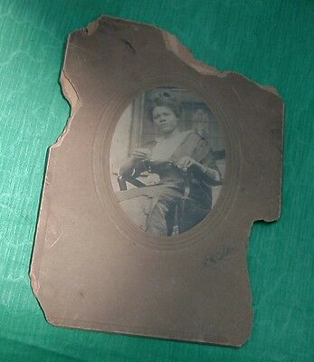 Vintage Photo African American Pretty Lady