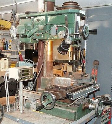 """Vertical Milling Jet 16, with Mitutoyo Scale Counter .0005"""", Tools, Table ......"""