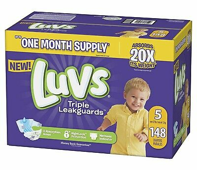 ***NEW***Luvs Ultra Leakguards Diapers, Size 5, 140 Count ***FREE SHIPPING***