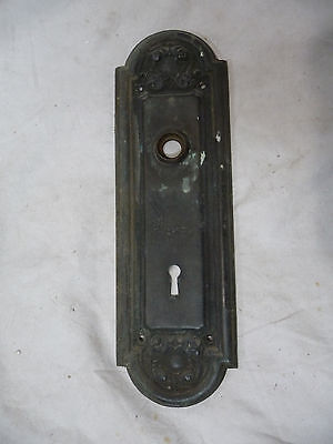 Antique Victorian Brass Entry Door Plate - C. 1885 Ornate Architectural Salvage