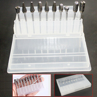 10 Pcs Tungsten Carbide Dental Acrylic Bur Drill Coarse Cutter 2.35mm Shank
