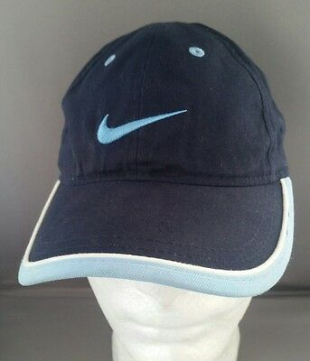 NIKE Navy Blue & Light Blue ADJUSTABLE BASEBALL HAT / CAP~Size Youth 4-7
