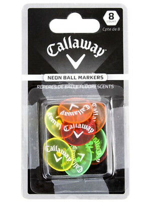 Callaway Neon Ball Markers 8 Pack