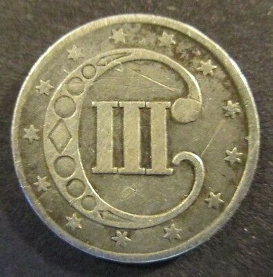 1852 Three Cent Piece, 'Trime', Silver