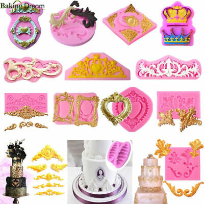 60Styles 3D Silicone Relief Fondant Mold Cake Border Decoration DIY Baking Mold