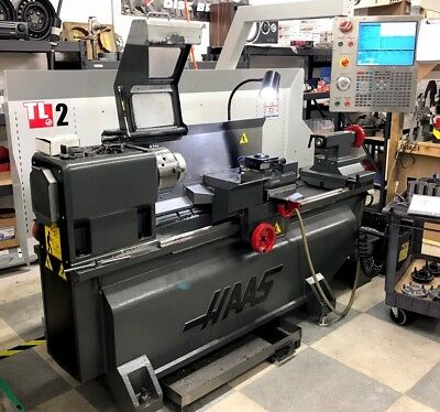 Haas Tl-2 Lathe 2013 With Auto Turret & Tailstock