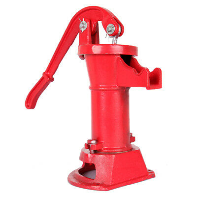 Outdoor Hand Water Pump Well Pitcher Cast Iron Press Suction Ponds Tool