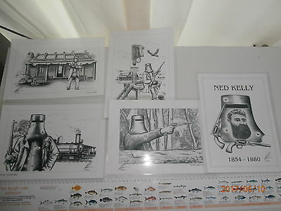 15 Ned Kelly  Memorial  Drawings   Limited Edition Prints O69 Out Of 500