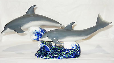 "Vintage Authentic Lladro Dolphins Figurine, ""dance Of The Dolphins"", Zzj42, 6456"