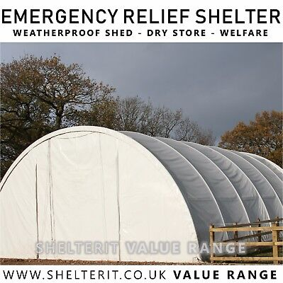 Emergency Welfare Relief Shelter - Weatherproof Shed - Dry Store - Temporary