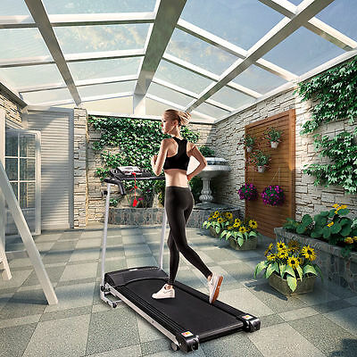 Home Gym Fitness Motorised Electric Treadmill Folding Running Machine Wide 360MM