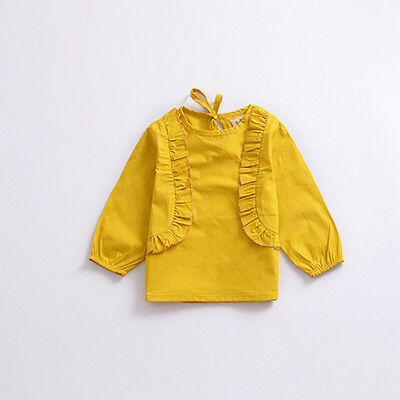 Infant Baby Girls Ruffle Tops Clothes Kids Autumn Blouse Pullover T-shirts 6M-3Y