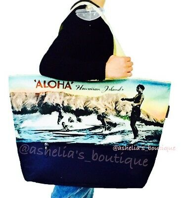 NEW~ Keep Cool Hawaii Insulated Reusable Eco Friendly XL Shopping Cooler Bag