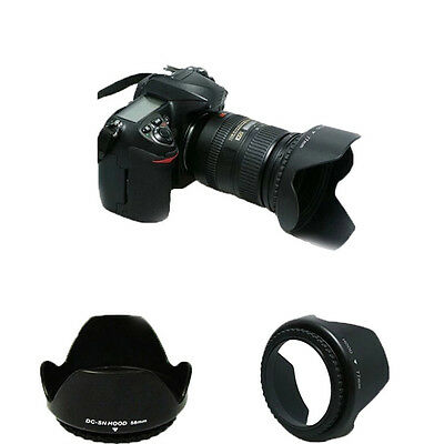 Hight Quality 52mm Lens Hood For Nikon D5200 D5100 D3200 D3100 D3300 D90 D60
