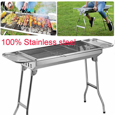 Cooligg Stainless Steel Portable Folding Charcoal BBQ Grill