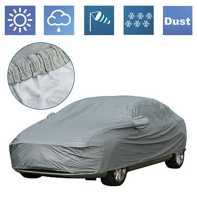 Large Size L 2 Layer Heavy Duty Waterproof Car Cover Cotton Lining Protection UK