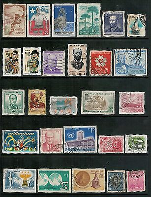 Lot 4235 - Chile - Selection of twenty two (27) used stamps