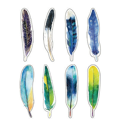 30pc Feather Bookmark Book Mark Magazine Note Pad Memo Label School Stationery