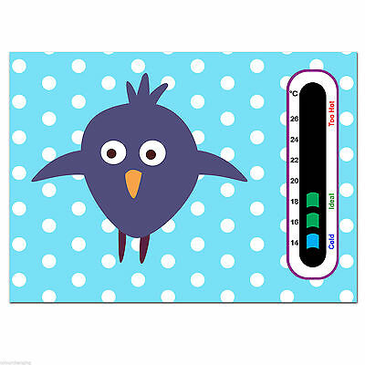 Baby Safe Ideas Cheeky Bird Nursery Room Thermometer